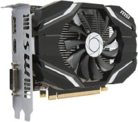 MSI NVIDIA GeForce GTX 1050 Ti 4G OC 4 GB GDDR5 Graphics Card(Black)