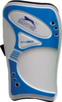 Slazenger V-190 Football Shin Guard(M, White, Blue)