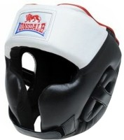 Lonsdale Super Pro Headgear with Cheek(XL, Black, White)