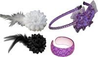 Bellazaara Floral Style Hair Accessory Set(Multicolor)