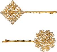B-Fashionable Dazzling Pearl Bobby Hair Pin(Gold)