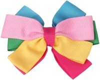 NeedyBee Little Girls Multicolored Grosgrain Ribbon Bow Toddlers Hair Clip(Multicolor)