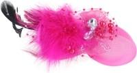 Pink Rose Princess Charm Hair Clip(Pink)