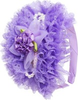 One Personal Care Princess Flower Charm Pearl Studded Netted Designer Part Wear Hair Accessory Set, Hair Band(Purple) - Price 139 53 % Off