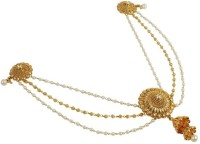 Muchmore Beautiful Traditional Design 18k Gold Plated Royal Look Work Long Polki Hair Pin For Women's Jewelry Hair Pin(Multicolor)
