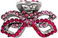 B-Fashionable Double Bow Hair Claw(Pink)