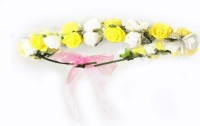 Sagunya Floral Head Band(White, Yellow)