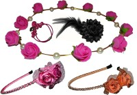 Paperiva Floral Style Hair Accessory Set(Multicolor)