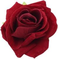 Sanjog Pretty Velvet Maroon Kids Rose Flower Pin Brooch For Girls Hair Clip(Maroon)
