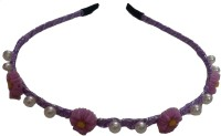 Viva Fashions Roses and Beads Hair Band(Purple)