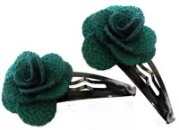 OPC Beautiful Floral Hair Accessory - Pack of 2 Tic Tac Clip(Green) - Price 139 51 % Off