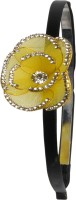 Sagunya Elegant Floral Hair Band(Yellow, Black)