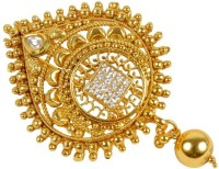Muchmore Exclusive Beautiful Charming Golden Ball Work Hair Pin For Women & Girls Partywear Jewelry Hair Pin(Multicolor)