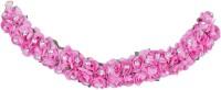 Kabello Artificial Gajra Flower Bun Hair Band(Pink)