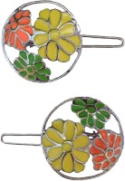 B-Fashionable Neon Flower Round Wire Clasp Hair Pin(Multicolor)