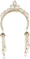 Pink Rose Charm Juda Pin Hair Pin(Gold, White)