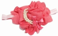 Pinkblueindia Newborn Stylish Roses with Soft Pearl Head Band(Pink)