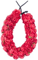 Kabello 3D Gajra Approx made of 200 flowers Hair Band(Red)