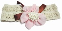 Pink & Blue India Baby Girl Flower in Stitched Head Band(Pink)