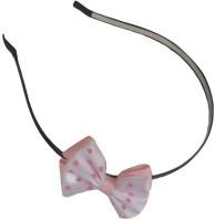 Viva Fashions Bow Hair Band(White, Pink)