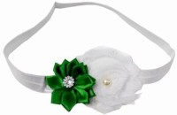 Pinkblueindia Sweetly Baby Satin Flower Head Band(White)