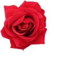 Sanjog Pretty Velvet Red Kids Rose Flower and Pin Brooch For Girls Hair Clip(Red)