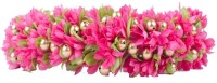 Kabello Beautiful Wedding Gajra Hair Band(Pink)