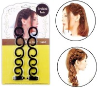 Out Of Box 2 Pieces french hair braider hair style tool twist styling RP2 Hair Accessory Set(Black) - Price 179 77 % Off