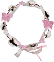 Carolz Jewelry Floral tiara Head Band(Pink)