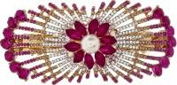 Mansiyaorange party wear fancy accessories Hair Clip(Pink)