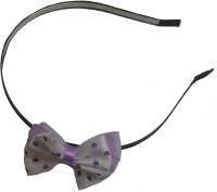 Viva Fashions Bow Hair Band(Purple, White)