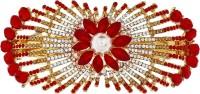 Mansiyaorange party wear fancy accessories Hair Clip(Red)