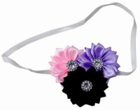 Pink & Blue India Newborn Elastic Embellished with Pearl Flowers Head Band(Multicolor)