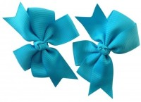 NeedyBee Bow ( Pack of 2) Hair Clip(Blue)