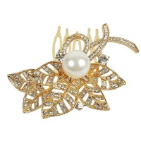 Muchmore Traditional Ethnic Design Work hair Clip For Girls & Kids Partywear Jewelry Hair Clip(White)