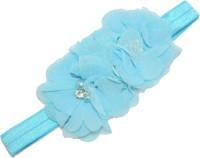 Mamaboo Sky blue color fancy triple flower stone pattern Head Band(Blue) - Price 100 79 % Off