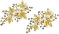Muchmore Exclusive Little Flower Designs Work Charming Hair Clip For Women & Girls Hair Clip(White)