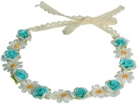 Sagunya Floral Lace Tiara Head Band(Blue)