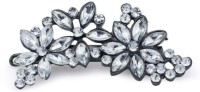 2014 shoppers stop flower crystal Hair Clip(Silver) - Price 235 84 % Off