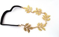 GalexiaR New Fashion Vintage Style Golden leaf leaves Elastic Hair Wear Head Band(Gold)