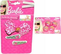 Mamaboo Barbie Pink & White Bow Hair Clip, Hair Band(Beige) - Price 137 50 % Off