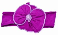 Pink & Blue India Gorgeous soft Floral Baby Head Band(Maroon)