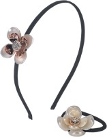 Sagunya Stylish Floral Hair Band(Gold, White)
