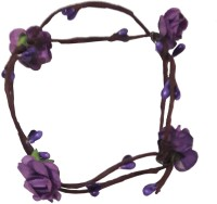 Craftera Stunning Handmade Purple Floral Hand Tiara/Crown for Girls Head Band(Purple)