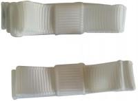 NeedyBee Double Deck Hair Clip(White)