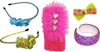 Bellazaara Floral Style Hair band Hair Accessory Set(Multicolor) - Price 500 83 % Off