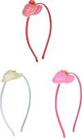 Sagunya Casual Hair Band(White, Pink, Red)