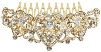 Muchmore Beautiful Austrian Diamond Stones Work Gold Plated Hair Clip For Kids & Girls Accessories Hair Clip(White)