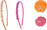 Sagunya Casual Combo Hair Accessory Set(Orange, Pink)