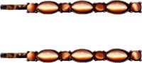 B-Fashionable Brown Cat-Eye Row Bobby Hair Pin(Brown)
